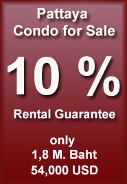 Pattaya Condo with rental guarantee